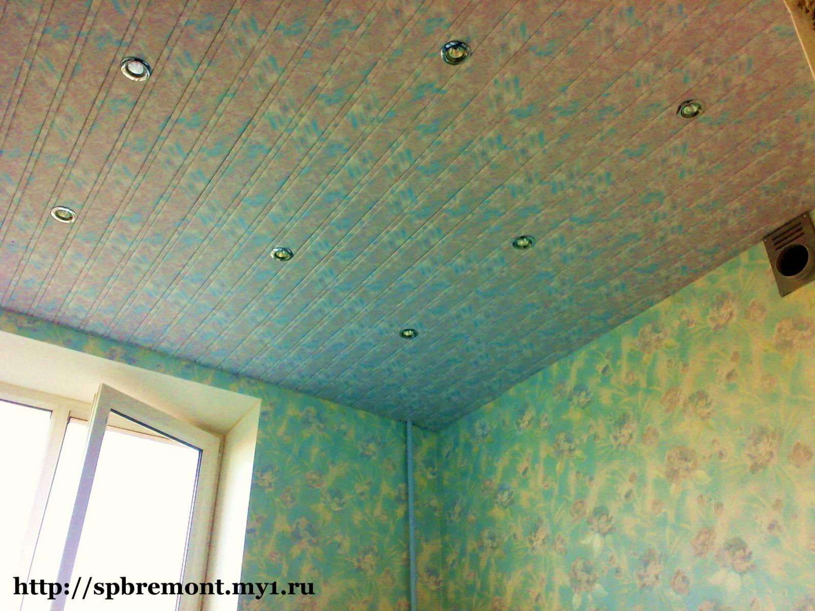 Ремонт своими руками потолок панелями